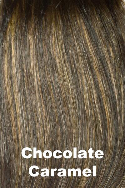 Envy Wigs - Olivia Human Hair Blend wig Envy Chocolate Caramel Average