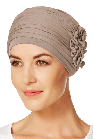 Christine Headwear - Lotus Turban Brown (0167)