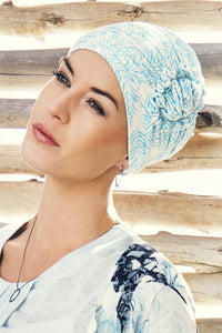 Christine Headwear - Lotus Printed Turban Bamboo Leaves (0404)