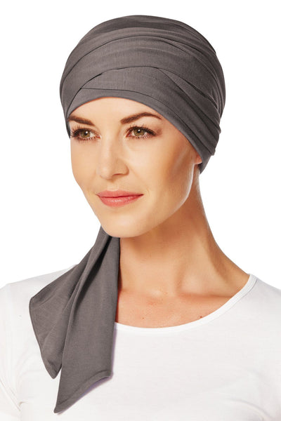 Christine Headwear - Mantra Long Scarf Grey Brown (0253)
