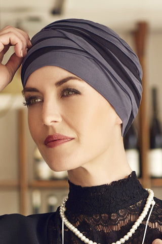 Christine Headwear - Shanti Turban Blue Black (0394)
