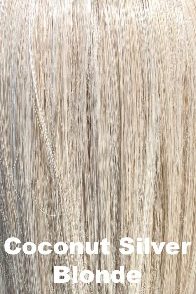 "Belle Tress Wigs - Maxwella 18"" (#6049) wig Belle Tress Coconut Silver Blonde Average"