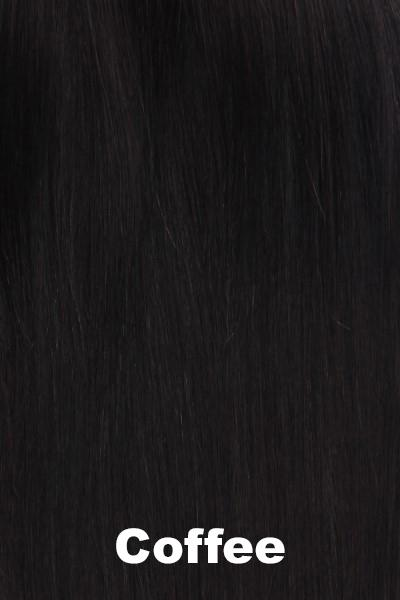 "Belle Tress Wigs - Remy Human Hair Lace Front Mono Top 14"" (#1000) Enhancer Belle Tress Coffee"