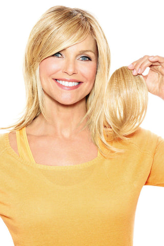 Christie Brinkley Additions: Full Sweeping Side Fringe Clip-in Bang (CBFSFR) Front 1
