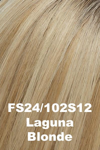 EasiHair - EasiPart XL 12 (#733A) Exclusive Colors - Remy Human Hair Volumizer EasiHair Laguna Blonde (FS24/102S12)