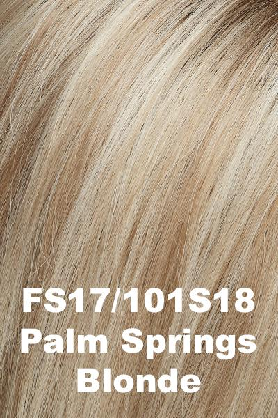 EasiHair Topper - EasiPart 18 (#734A) Exclusive Colors - Human Hair Volumizer EasiHair Palm Springs Blonde (FS17/101S18)