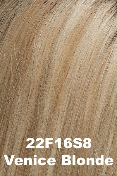 EasiHair Topper - EasiPart 18 (#734A) Exclusive Colors - Human Hair Volumizer EasiHair Venice Blonde (22F16S8)
