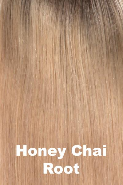 "Belle Tress Wigs - Remy Human Hair Lace Front Mono Top 14"" (#1000) Enhancer Belle Tress Honey Chai Root"