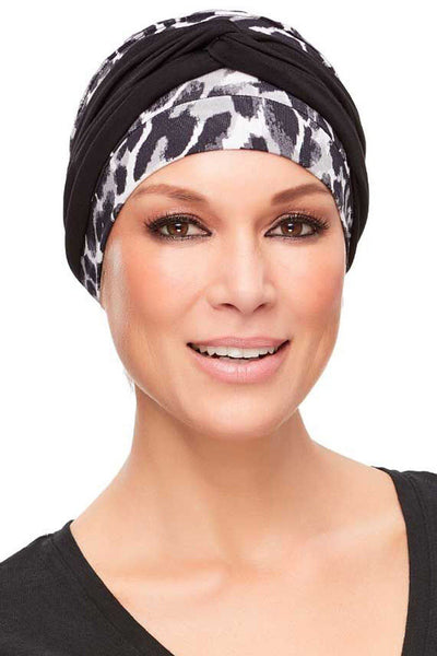 Head Wraps - Softie Accent (Solid Colors) by Jon Renau - Black - front 2