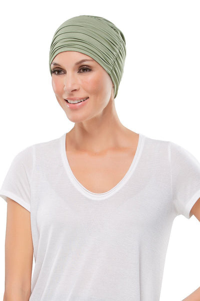 Head Wraps - Elegant Softie (Solid Colors) by Jon Renau - Green Sage - Front