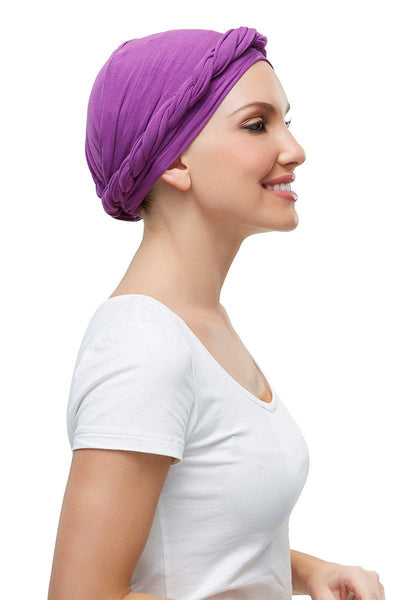 Head Wraps - Softie Wrap (solid colors) by Jon Renau - Plum - Side