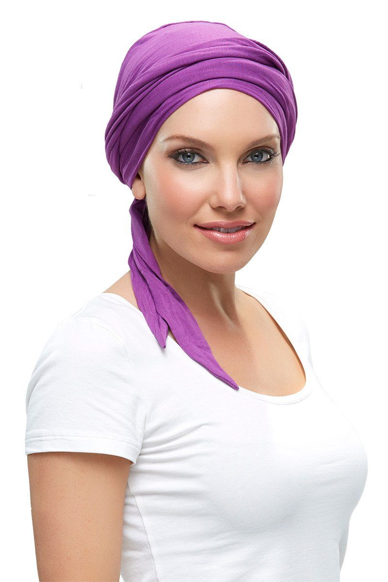 Head Wraps - Softie Wrap (solid colors) by Jon Renau - Plum - Front