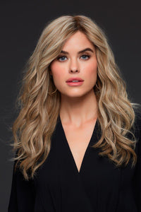 Jon Renau Wigs : Angie Human Hair Exclusive Colors (#707A) Laguna Blonde - Main