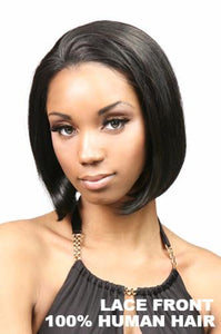 Motown Tress Wigs : Abby Lace Front Human Hair front 1