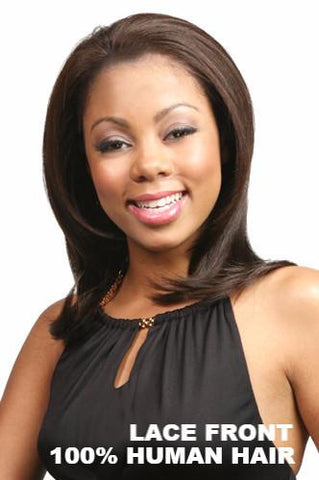 Motown Tress Wigs : Down Lace Front Human Hair front 1
