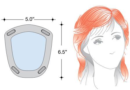 Rene of Paris Wigs : Long Top Piece (#732) - diagram