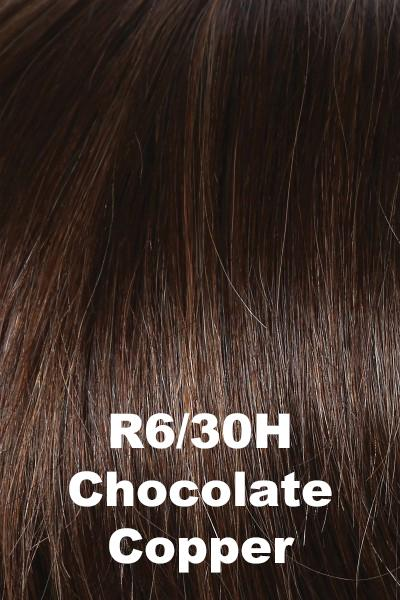 Raquel Welch Wigs - Success Story - Human Hair wig Raquel Welch Chocolate Copper (R6/30H) Average