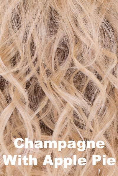 "Belle Tress Wigs - Lace Front Mono Top 6"" (#7009) wig Belle Tress Champagne with Apple Pie"