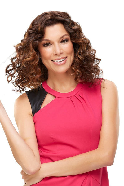 EasiHair Extension - EasiPart HH 18 (#734A) Exclusive Colors - 6RN - Front Curly 1