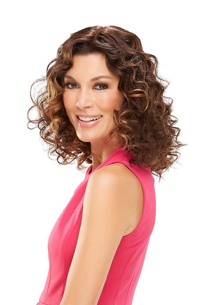 EasiHair Extension - EasiPart HH 18 (#734A) Exclusive Colors - 6RN - Front Curly 2
