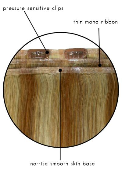 EasiXtend Clip-in Extensions : Elite 16 HH Set (#322) Close Up