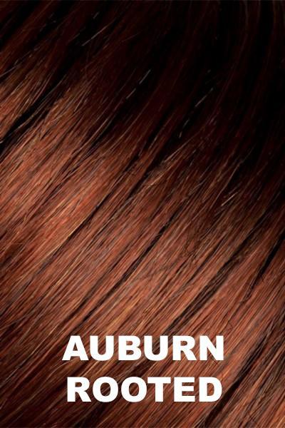 Auburn Rooted - Dark Auburn, Bright Copper Red, and Warm Medium Brown blend with Dark Roots
