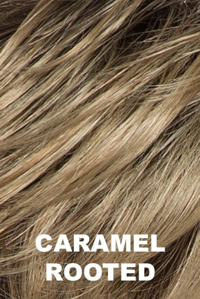 Caramel Rooted - Medium Gold Blonde and Light Gold Blonde Blend with Light Brown Roots