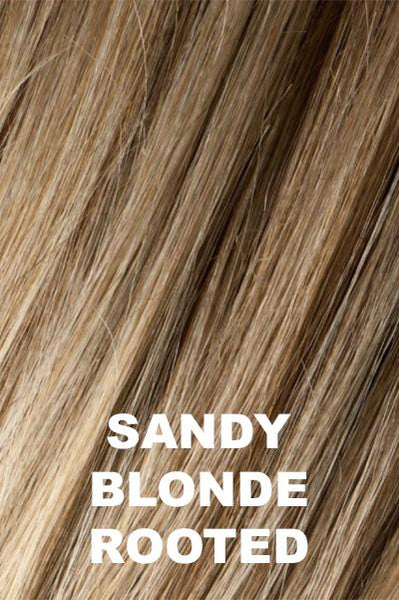 Sandy Blonde Rooted - Medium Honey Blonde, Light Ash Blonde, and Lightest Reddish Brown blend with Dark Roots