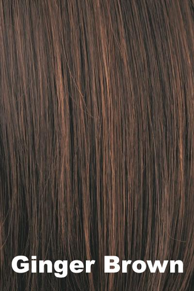 Amore Wigs - Medium Mono Top Piece #751 wig Amore Ginger Brown