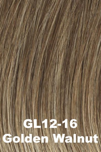 Gabor Wigs - Under Cover Halo Bangs Gabor Golden Walnut (GL12-16)