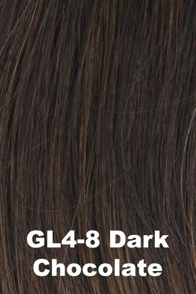 Gabor Wigs - Under Cover Halo Bangs Gabor Dark Chocolate (GL4-8)