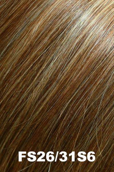 EasiHair Topper - EasiPart 18 (#734A) Exclusive Colors - Human Hair Volumizer EasiHair Salted Caramel (FS26/31S6)