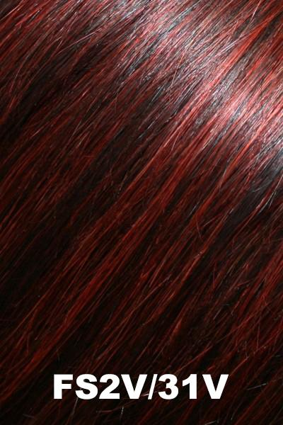 "Jon Renau - Top Style 12"" Human Hair (#5988) Enhancer Jon Renau Addition Chocolate Cherry (FS2V/31V)"