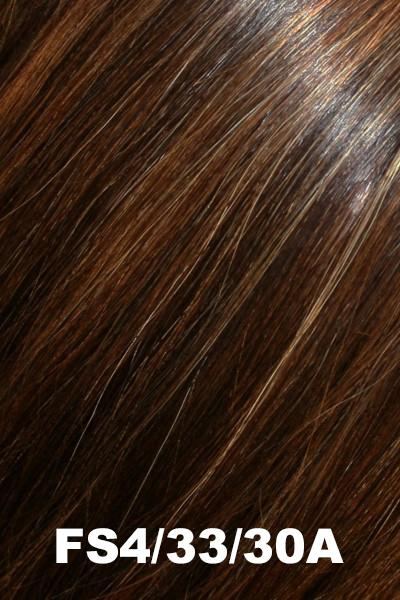 "Easihair Toppers - EasiPart French 18"" (#741) - Remy Human Hair Enhancer EasiHair Midnight Cocoa (FS4/33/30A)"