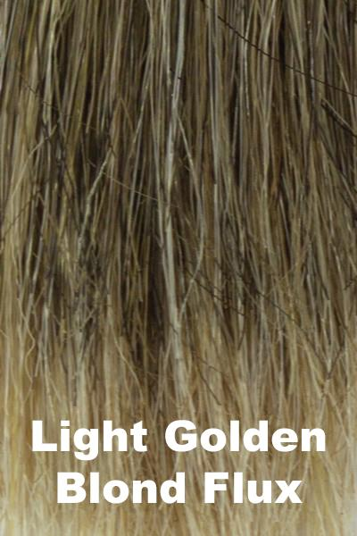 Amore Wigs - Integration Top Piece Human Hair Blend #8702 Enhancer Amore Light Golden Blond Flux