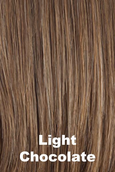 Amore Wigs - Medium Mono Top Piece #751 wig Amore Light Chocolate