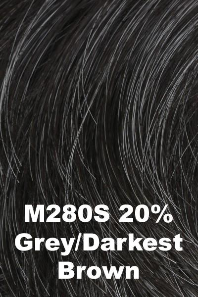 HIM Wigs - Daring wig HIM M280S (20% Grey, Darkest Brown) Average-Large