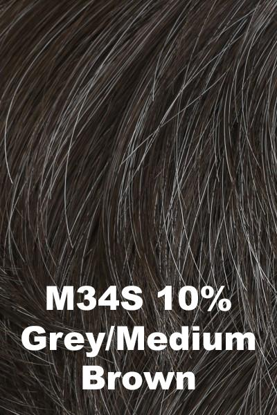HIM Wigs - Daring wig HIM M34S (10% Grey, Medium Brown) Average-Large