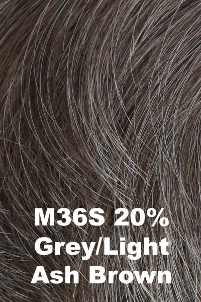 HIM Wigs - Daring wig HIM M36S (20% Grey, Light Ash Brown) Average-Large