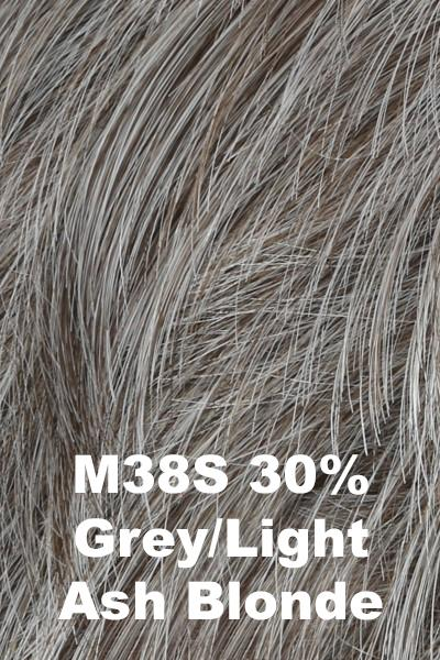 HIM Wigs - Style wig HIM M38S (30% Grey, Light Ash Blonde) Average-Large