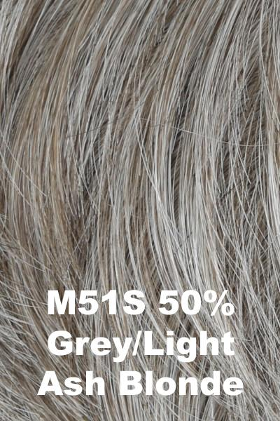 HIM Wigs - Daring wig HIM M51S (50% Grey Light Ash Blonde) Average-Large