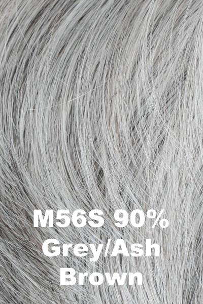 HIM Wigs - Style wig HIM M56S (90% Grey, Ash Brown) Average-Large