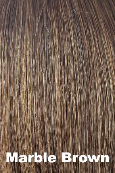 Amore Wigs - Medium Mono Top Piece #751 wig Amore Marble Brown
