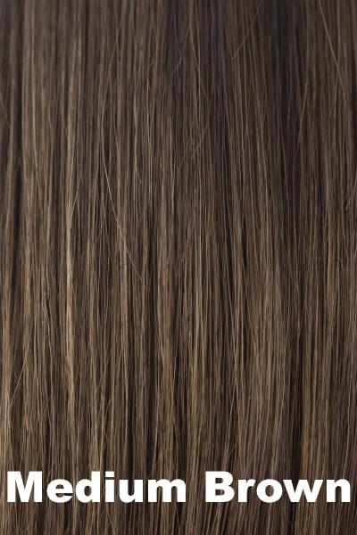 Amore Wigs - Medium Mono Top Piece #751 wig Amore Medium Brown