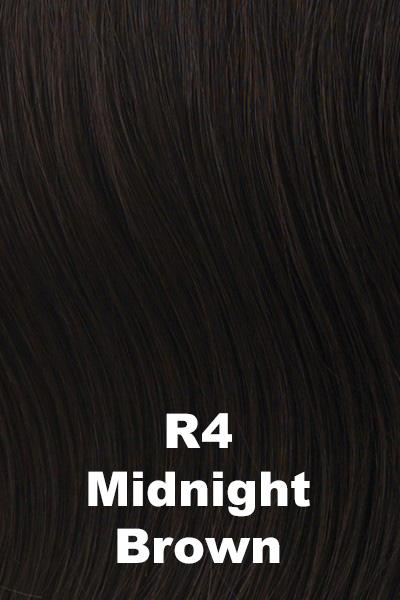 Hairdo Wigs Extensions - Fringe Top of Head (HXTPFR) Extension Hairdo by Hair U Wear Midnight Brown (R4)