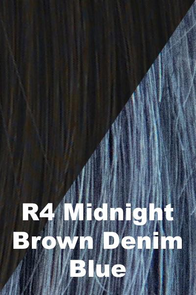 Hairdo Wigs Extensions - Color Splash Wrap (#HXCSWR) Scrunchie Hairdo by Hair U Wear Midnight Brown (R4)-Denim Blue