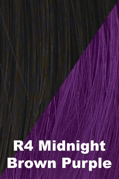 Hairdo Wigs Extensions - Color Splash Wrap (#HXCSWR) Scrunchie Hairdo by Hair U Wear Midnight Brown (R4)-Dark Purple