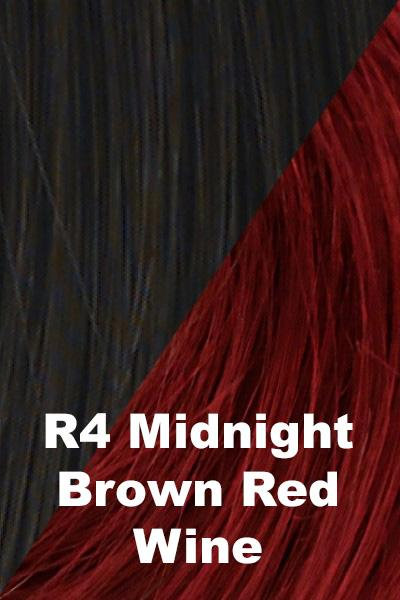 Hairdo Wigs Extensions - Color Splash Wrap (#HXCSWR) Scrunchie Hairdo by Hair U Wear Midnight Brown (R4)-Red Wine
