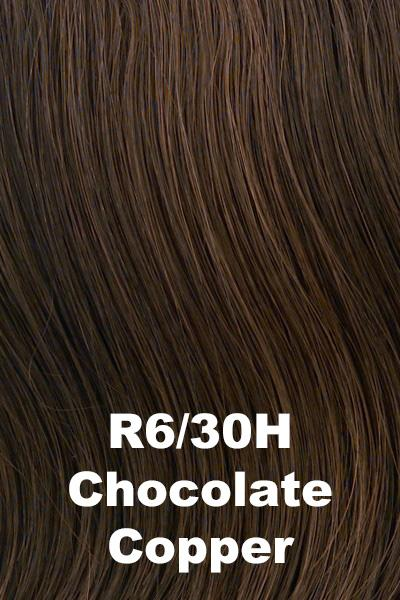 Hairdo Wigs Extensions - Fringe Top of Head (HXTPFR) Extension Hairdo by Hair U Wear Chocolate Copper (R6/30H)