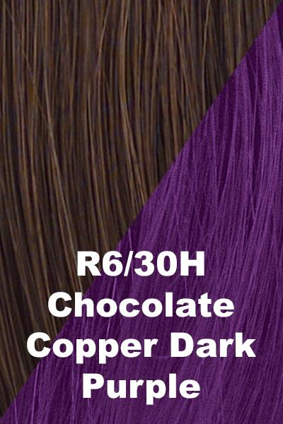 Hairdo Wigs Extensions - Color Splash Wrap (#HXCSWR) Scrunchie Hairdo by Hair U Wear Chocolate Copper (R6/30H)-Dark Purple